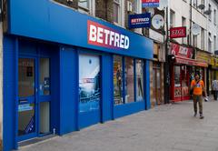 LONDON - SEPTEMBER 5TH: The exterior of a Betfred betting shop on September t - stock photo