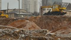 City destroyed buildings Stock Footage