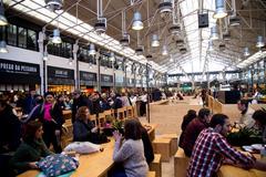 LISBON, PORTUGAL- January 10th, 2015: Mercado da ribeira food market on the 1 - stock photo