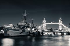 Thames River London - stock photo