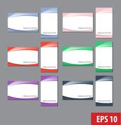Namecard templates colorful set - stock illustration