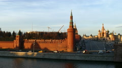 Kremlin wall and tower, in December 2015. Stock Footage