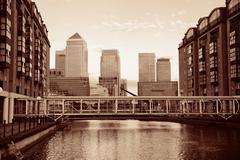 London Canary Wharf - stock photo