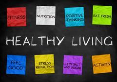 Healthy Living - illustration background - stock illustration