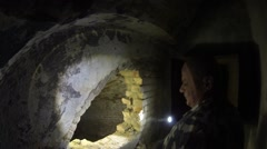 Old Turkish catacombs in Izmail. Stock Footage