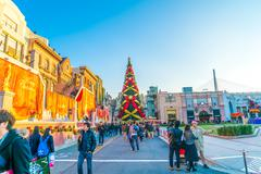 Osaka, Japan - 1 December 2015: The theme park attractions based on the film  Stock Photos