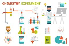 Chemistry Experiment Concept Stock Illustration