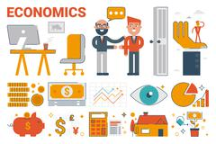 Economics infographic elements and icons Stock Illustration