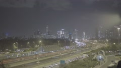 Tel Aviv night skyline SLOG3 Stock Footage