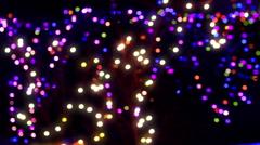 christmas xmas lights light color - stock footage