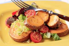 Vegetarian appetizer or side dish - Sweet potato salad Stock Photos