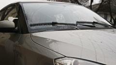 Windscreen windshield wipers in motion - stock footage