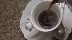 Please hot coffee, drink to health. Stock Footage