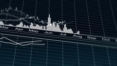 Stock Video Footage of Computer generated line graph on company marketing strategy results per year