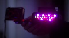 ghost camera UV full specrtum light - stock footage