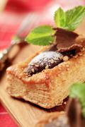 Chocolate filled puff pastry - stock photo