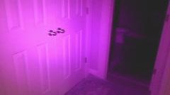 FULL spectrum ghost camera inside Stock Footage