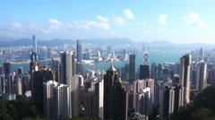 4K Aerial Timelapse of Hong Kong from the Peak Stock Footage