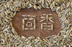 Fennel written in Chinese Stock Photos