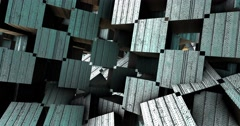 Adstract 3d geometric shapes in motion.  Loop - 4K Stock Footage