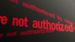 Access denied. You are not authorized to view this page. Running text, LED sign - stock footage