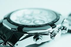 Nickel-plated watch. - stock photo