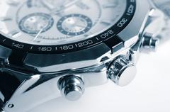Nickel-plated watch. Stock Photos