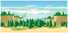 Picturesque valley Stock Illustration