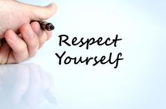 Respect yourself text concept - stock photo