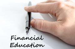 Financial education text concept - stock photo