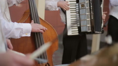 Musical quartet playing. Stock Footage
