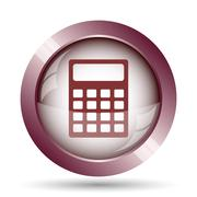 Calculator icon. Internet button on white background.. - stock illustration
