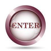 Enter icon. Internet button on white background.. Stock Illustration