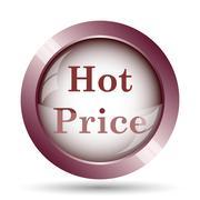 Hot price icon. Internet button on white background.. - stock illustration