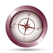 Stock Illustration of Compass icon. Internet button on white background..