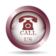 Stock Illustration of Call us icon. Internet button on white background..