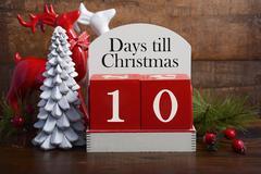 Days till Christmas calendar. Stock Photos