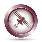 Stock Illustration of Antenna icon. Internet button on white background..