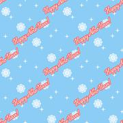 Vector ongoing christmas snowflakes background with wishes - stock illustration