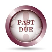 Stock Illustration of Past due icon. Internet button on white background..