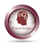Stock Illustration of Knowledge icon. Internet button on white background..