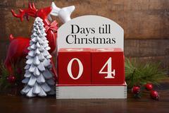 Days till Christmas calendar. - stock photo