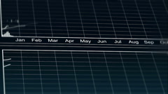 Animated line chart representing demographic statistics data, analytical graph - stock footage