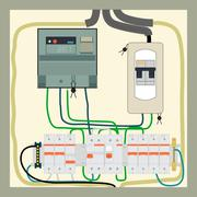 Electrical shield - stock illustration