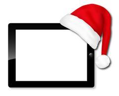 Tablet IPAD santa hat Piirros