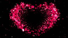Heart Shape made of Pink Particles Beating. Beautiful looped 3d animation. Stock Footage