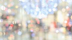 Christmas illuminations. - stock footage