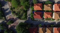 aerial view of home village in thailand - stock footage