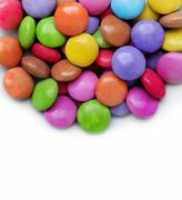 White background with bright color candy - stock photo