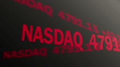 Computer-generated shot of stock market data running on ticker, trading business - stock footage